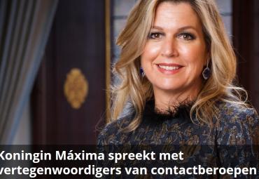 Koningin Máxima spreekt branchevoorzitter FAM